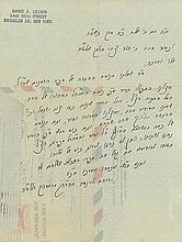 Collection of Rebbes' Letters