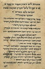 Manuscript - Azharot for Chag HaShavuot, with Judeo-Persian Translation