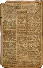 Letter Printed on Cardboard - by the Chafetz Chaim - New York, 1940