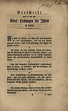 Collection of Regulations and Decrees related to German Jews – 18th-19th Century