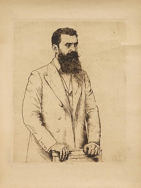 Herzl's Portraits by Hermann Struck
