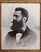 Theodor Herzl - Giant Portrait Photo with a Dedication in his Handwriting at the time of his Visit to Jerusalem in 1898