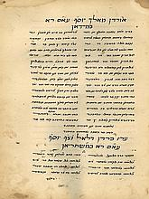 Two Manuscripts, Judeo-Persian Poetry - The Book of Shoftim and the Story of Yosef HaTsaddik / Yehoshua and Shoftim