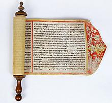 Illuminated Esther Scroll - Italy, 19th century