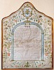 Illuminated Ketubah on Parchment - Ancona, 1789