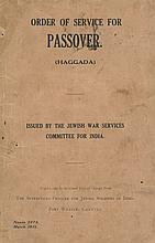 Order of Service for Passover (Haggada) for British Soldiers in India, 1918