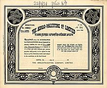 Collection of Share Certificates, Promissory Notes and Checks – Eretz Israel