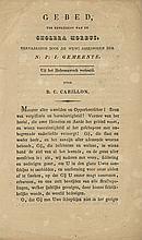 Prayer Against Cholera Plague – Amsterdam, 1832 – Signature of Rabbi Benjamin Cohen Carillon, Rabbi in the Caribbean Islands