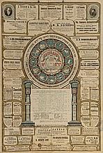 Large Broadside with a Calendar – JNF in Harbin – China, 1922