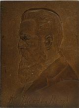 Iron Plaque – Portrait of Theodor Herzl – Czechoslovakia