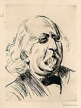 Max Liebermann – Two Engravings / Portrait of Max Liebermann by Erich Heermann