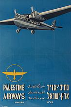 Palestine Airways Ltd. – Poster Designed by Oskar Lachs