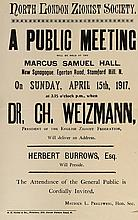 London Zionist Society – Invitation to an Address Delivered by Haim Weizmann, 1917