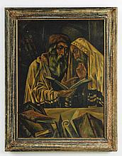Jews Studying Torah - Oil Painting by Arthur Bryks