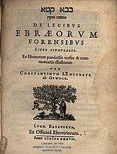 Mishnayot Bava Kama - Hebrew-Latin Edition - Leiden, 1637