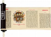 Esther Scroll in Hebrew and in English - Printed on Paper - Vienna