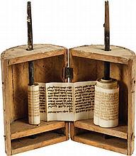 Tikun Leil Shavuot - Paper Scroll in a Wooden Case - Jerusalem
