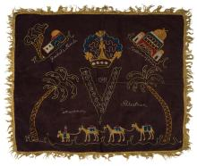 Embroidered Cloth - Souvenir of a British Soldier from Palestine, 1941