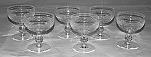 A set of 6 Waterford glass sundae dishes.