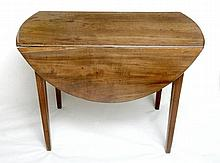 An antique mahogany Pembroke table with 'D' shaped