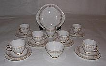 Queen Anne pattern 21 piece teaset.