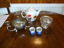 Sundry lot of 4 Spode egg cups, tea ware, etc.