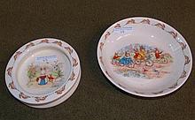 2 Royal Doulton Bunnykins feeding bowls.