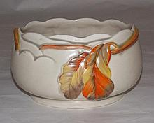 Circular Clarice Cliff fruit bowl.