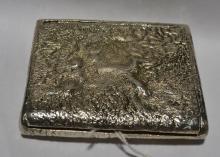 Russian Silver Cigarette Box.