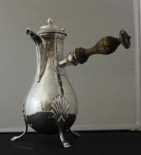 Antique French Continental Silver Chocolate Pot