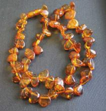 Vintage Natural Amber Beaded Necklace