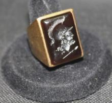 Vintage Men's 14K Yellow Gold Onyx Ring.