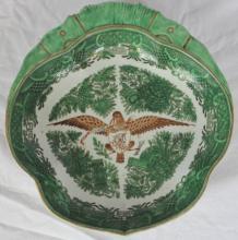 Chinese Export Porcelain Armorial Shrimp Dish