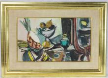 Still Life with Fruits Signed Menkes