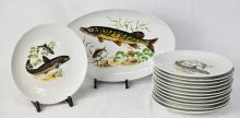 Thirteen Israeli Porcelain Plates