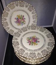 Set of Czechoslovakia Porcelain Dinner Plates