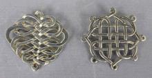 Vintage Sterling Silver Brooch & Pendant