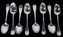 8 Antique Rogers & Bro. Silver Plate Spoons