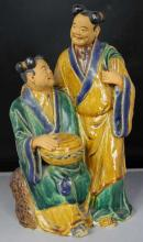 Chinese Terracotta Hand Painted Statue