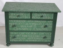 Antique Continental Dresser w/ Italian Writing