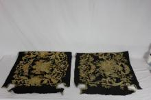 2 Antique Needlepoint Petite Point Panels