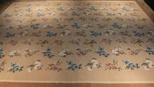 Antique Aubusson Style Needlepoint Carpet From ABC