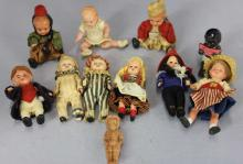 Collection of Vintage Celluloid and Bisque Dolls