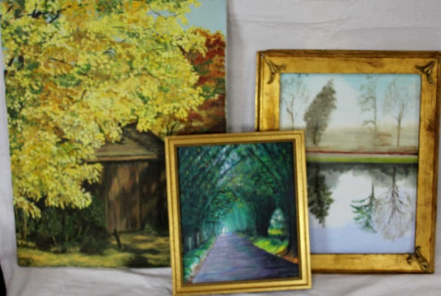 Group of Three Signed Landscape Paintings