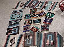 Southwest pattern placemats .