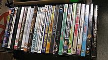 Box of DVD's .