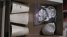 Box of 3 crucibles + extras .