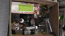 Box of old jars & bottles .