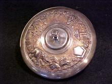 Sterling silver small lidded bowl