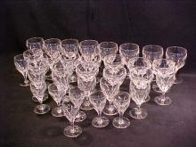 Lot of 33 Signed Thomas Webb crystal